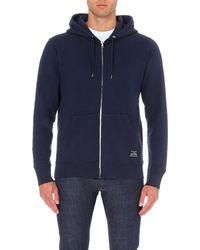 Paul Smith - Blue Branded Cotton-jersey Hoody, Men's, Size: L, Navy for Men - Lyst