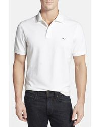 Vineyard Vines - White Slim Fit Stretch Pique Polo for Men - Lyst