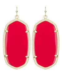 Kendra Scott | Danielle Earrings, Bright Red | Lyst