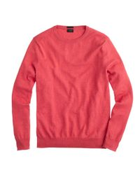 J.Crew - Pink Slim Cotton-cashmere Crewneck Sweater for Men - Lyst