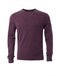 Tommy Hilfiger | Purple Pima Cashmere Sweater for Men | Lyst