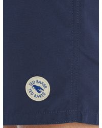 Ted Baker | Blue Elastic Waist Swim Shorts for Men | Lyst