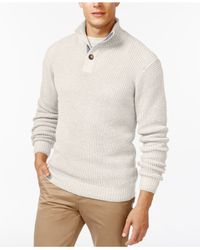 Weatherproof | White Tuck-stitch Mock-collar Sweater for Men | Lyst