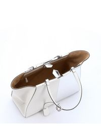 Fendi - White And Silver Colorblock Leather '3Jours' Tote - Lyst