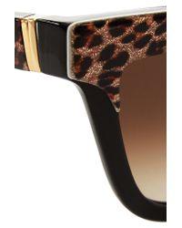 Anna Karin Karlsson - Black Mimi Monaco D-frame Leopard-print Acetate Sunglasses - Lyst