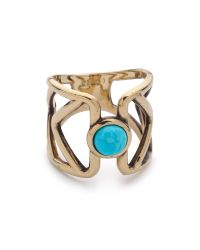Pamela Love - Metallic Pathway Ring - Brass/Turquoise - Lyst