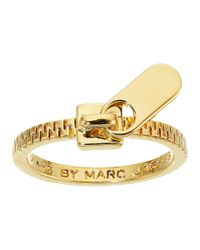 Marc By Marc Jacobs | Metallic Lost And Found Zipper Pull Ring | Lyst