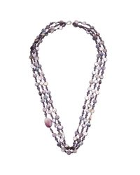 John Lewis | Purple Layered Long Drop Bead Necklace | Lyst