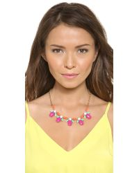 kate spade new york - Multicolor Pucker Up Short Necklace - Lyst