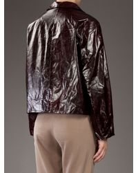Petar Petrov - Brown Leather Jacket - Lyst