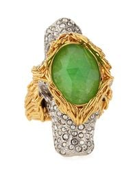 Alexis Bittar | Green 2headed Pave Crystal Lion Ring | Lyst