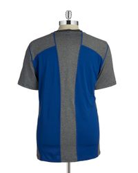 Calvin Klein | Blue Colorblock Active Tee for Men | Lyst