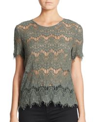 Generation Love - Green Maria Lace Top - Lyst