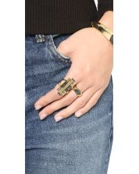 House of Harlow 1960 - Metallic Modern Revival Band Ring - Lyst