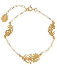 Alex Monroe | Metallic Gold-plated Peacock Feather Bracelet | Lyst