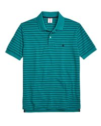 Brooks Brothers | Blue Golden Fleece® Slim Fit Performance Stripe Polo Shirt for Men | Lyst