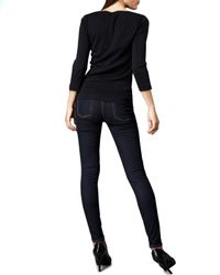 7 For All Mankind | Black Skinny Denim Leggings, Indigo | Lyst