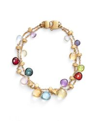 Marco Bicego - Multicolor 'paradise' Semiprecious Stone Two-row Bracelet - Lyst