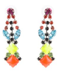 Tom Binns | Multicolor Pendant Crystal Earrings | Lyst