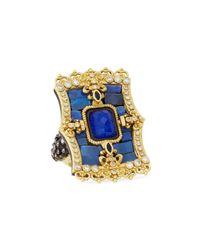 Armenta | Blue Lapis Doublet Fleur De Lis Shield Ring | Lyst