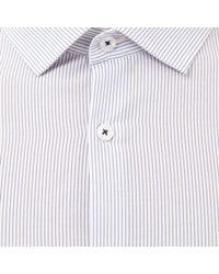 River Island - White Subtle Stripe Shirt for Men - Lyst