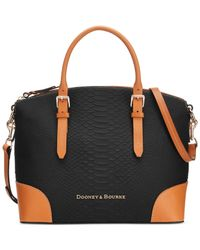 Dooney & Bourke | Orange Claremont Python Domed Satchel | Lyst