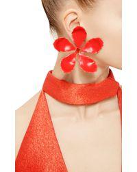 Rosie Assoulin - Red Enamel Single Flower Earring - Lyst