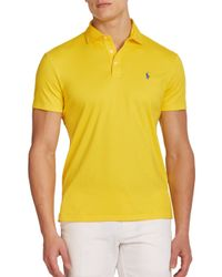 Polo Ralph Lauren | Yellow Pima Soft-touch Polo for Men | Lyst
