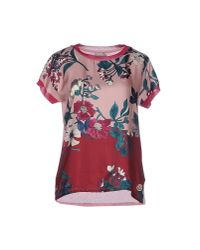 Moncler | Pink T-shirt | Lyst