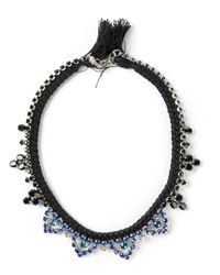 Joomi Lim | Black Braided Bib Necklace | Lyst