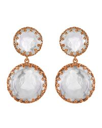 Larkspur & Hawk | Multicolor Olivia Gold-washed Topaz Two-drop Earrings | Lyst