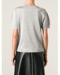 Dries Van Noten - Metallic 'mirese' Short Sleeve Sweater - Lyst