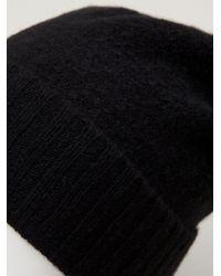 The Elder Statesman - Black Slouch Beanie Hat for Men - Lyst