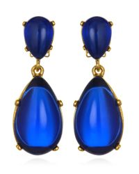 Kenneth Jay Lane | Blue Cobalt Double Drop Earrings | Lyst