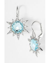 Anzie | Blue 'aztec' Starburst Drop Earrings | Lyst