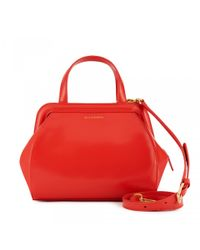 Lulu Guinness - Bright Red Polished Leather Small Paula - Lyst