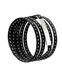 Ursul | Le Lacet Parisien Black Cotton Lace-up Bracelet for Men | Lyst