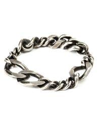 Werkstatt:münchen | Metallic Werkstatt:münchen Curb Chain Bracelet | Lyst