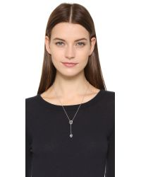 Sam Edelman - Gray Pave Stone Necklace - Grey/silver - Lyst