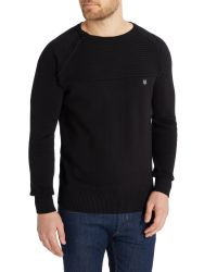 883 Police | Black Morgan Knitted Jumper for Men | Lyst