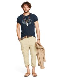 Denim & Supply Ralph Lauren - Brown Relaxed-fit Cropped Cargo Pants for Men - Lyst