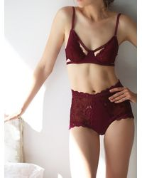 Free People - Red Dream Of Me High Waisted Undie - Lyst