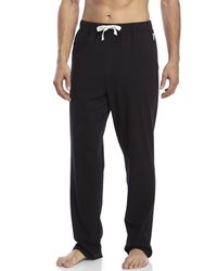 Bread & Boxers - Black Knit Lounge Pants for Men - Lyst