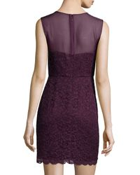 Diane von Furstenberg - Purple Nisha Sleeveless Lace Dress - Lyst
