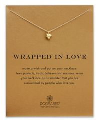 Dogeared | Metallic Wrapped In Love Reminder Necklace | Lyst