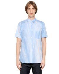 Comme des Garçons - Blue Paint Brushed Effect Cotton Poplin Shirt for Men - Lyst