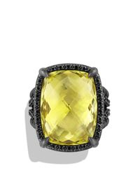 David Yurman | Yellow Châtelaine Ring With Lemon Citrine And Black Diamonds | Lyst