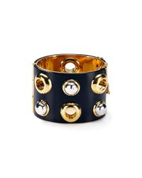 Marc By Marc Jacobs - Black Cabochon Statement Hinge Cuff - Lyst