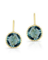 Anne Sisteron - Multicolor 14kt Yellow Gold Blue Topaz Earrings - Lyst