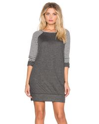 Sundry | Natural Striped Raglan Dress | Lyst